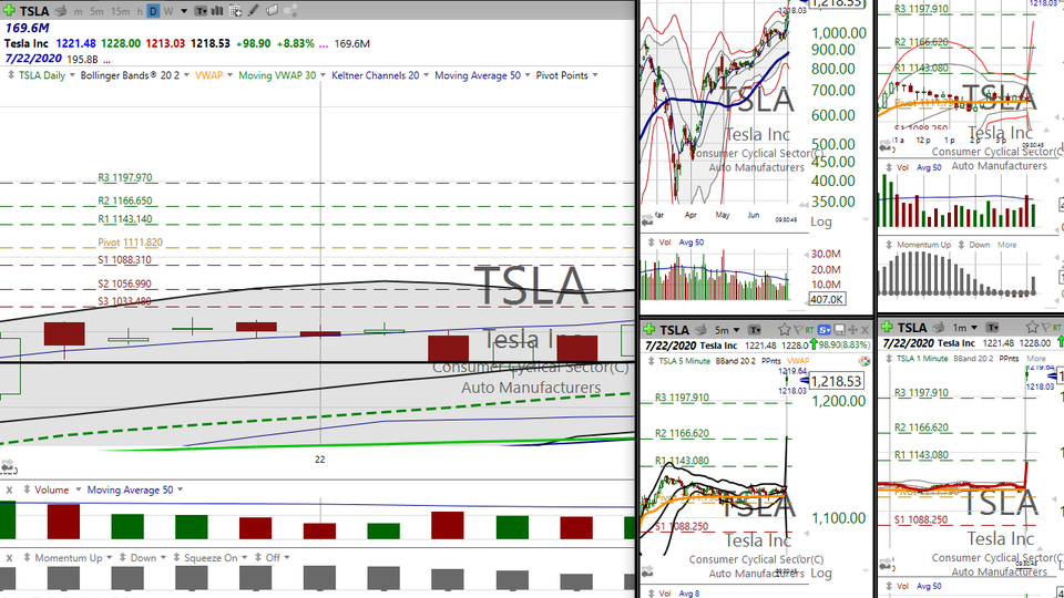 $TSLA has been on fire .. . the stock, not the cars :). (June 30, 2020)