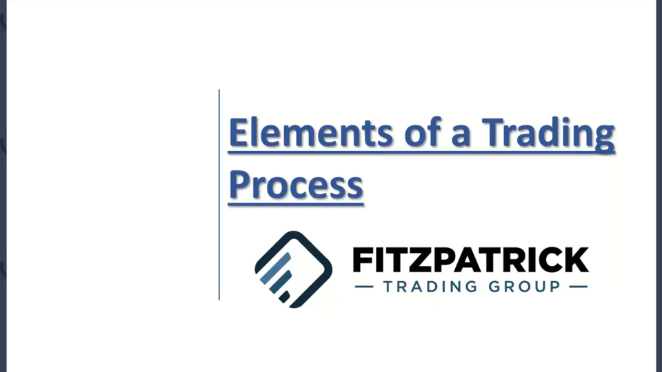 Building Your Trading Process - September 15, 2021
